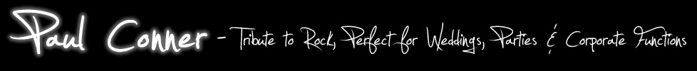 Tribute To Rock – Guitar Vocalist performing Classic Rock and Pop Hits from the 60s to Now